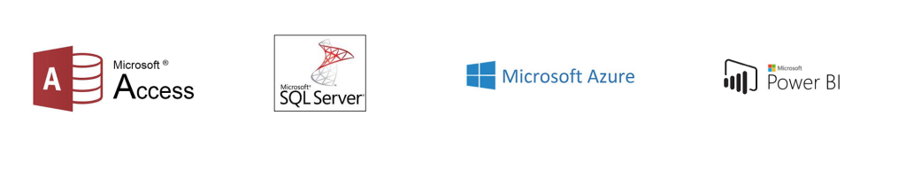 Image of four Microsoft databases