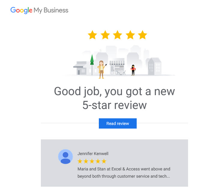 Image of 5-star Google review