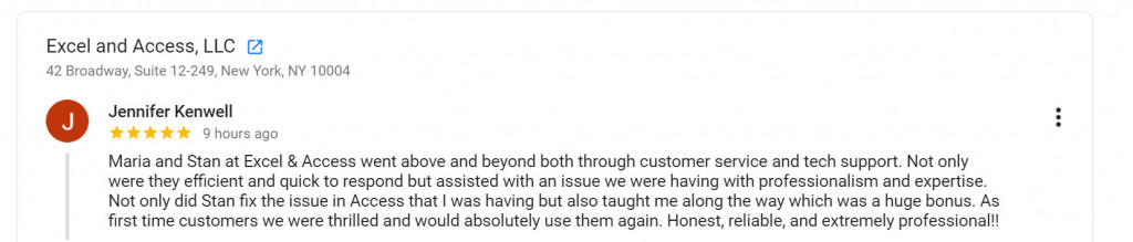 Image of client testimonial