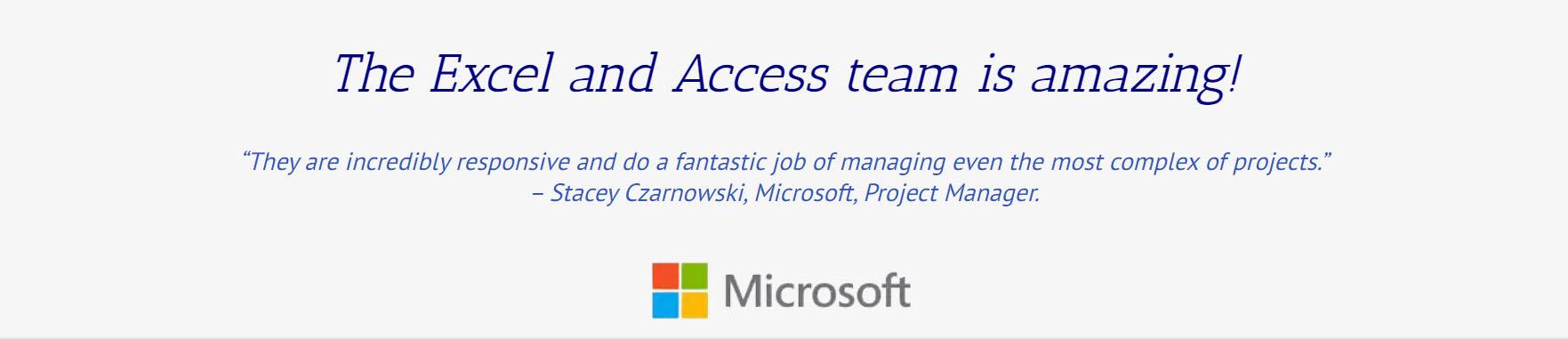 Microsoft Testimonial on our work